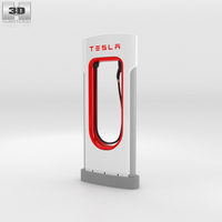 Tesla Supercharger 3D Model