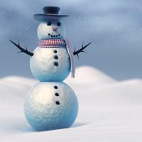 SnowMan Vray 3D Model