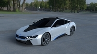 BMW i8 White HDRI 3D Model