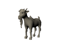 Free cartoon Goat 3D Model