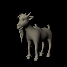 cartoon Goat 3D Model