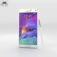 Samsung Galaxy Note 4 Frosted White 3D Model