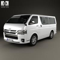 Toyota HiAce LWB Combi 2013 3D Model