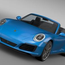 Porsche 911 Carrera 4 Cabriolet 991 2016 3D Model