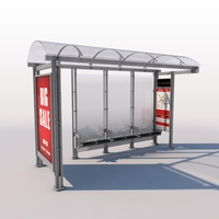 Urban Bus Shelter 3D Model