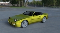 Porsche 944 Cabriolet w interior top down HDRI 3D Model