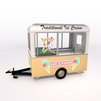 Ice Cream Trailer 3D Model
