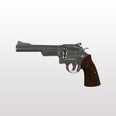 44 Magnum Handgun 3D Model