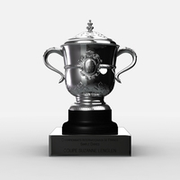 Roland Garros Womens Trophy 3D Model
