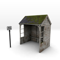 Rural Bus Shelter 3D Model