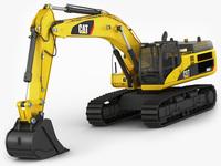 Excavator CAT 345 DL 3D Model