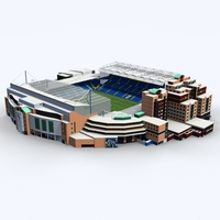 Stamford Bridge Stadium (Low Poly Version) 3D Model