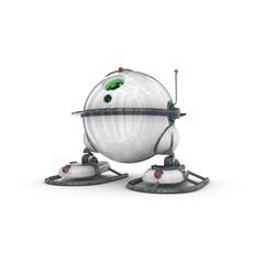 Funny Robot Character 8 3D Model