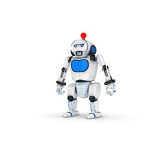 Funny Robot Character 9 3D Model
