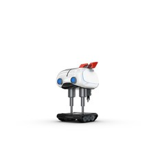 Funny Robot Character 14 3D Model