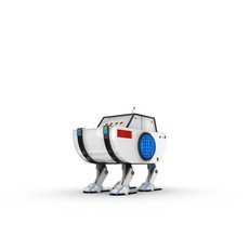 Funny Robot Character 18 3D Model