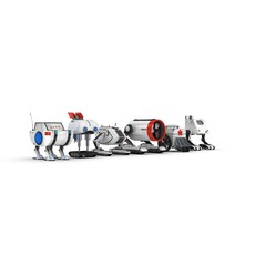 Funny Robots Pack 3 3D Model