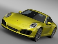 Porsche 911 Carrera 4 Coupe 991 2016 3D Model