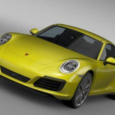 Porsche 911 Carrera 4 Coupe 991 2016 3D Model