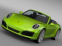 Porsche 911 Carrera 4S Cabriolet 991 2016 3D Model