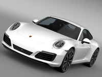 Porsche 911 Carrera 4S Coupe 991 2016 3D Model