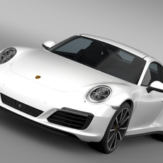 Porsche 911 Carrera 4S Coupe 991 2016 3D Model