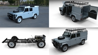 Land Rover Defender 110 Utility Station Wagon HDRI 3D Model