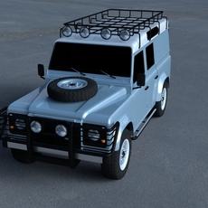 Land Rover Defender 110 Utility Station Wagon HDRI 3D Model