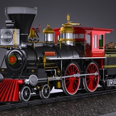 The General 4-4-0 Steam Locomotive 3D Model