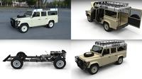 Land Rover Defender 110 Station Wagon HDRI 3D Model