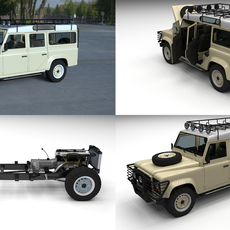 Land Rover Defender 110 Station Wagon HDRI 3D Model