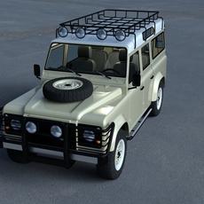 Land Rover Defender 110 Station Wagon w interior HDRI 3D Model