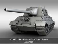 SD.KFZ 186 Jagdtiger - Hunting Tiger 3D Model