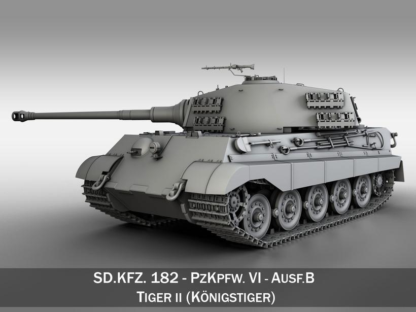 SD.KFZ 182 Tiger 2 - King Tiger Tank 3D Model
