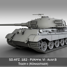 SD.KFZ 182 Tiger 2 - King Tiger Tank 3D Model