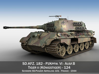 Panzerkampfwagen VI - Ausf.B - Tiger II 3D Model