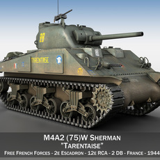 M4A2 Sherman - Tarentaise 3D Model