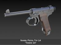Nambu Pistol Typ14 - Taisho 14 3D Model