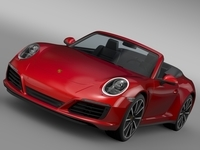 Porsche 911 Carrera Cabriolet 991 2016 3D Model