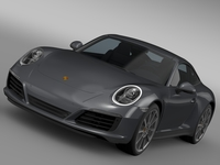 Porsche 911 Carrera Coupe 991 2016 3D Model