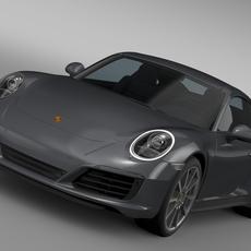 Porsche 911 Carrera Coupe 991 2016 3D Model