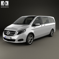 Mercedes-Benz V-Class 2014 3D Model