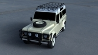 Land Rover Defender 110 Station Wagon 3D Model