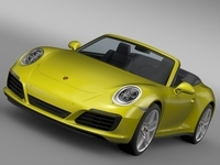 Porsche 911 Carrera S Cabriolet 991 2016 3D Model