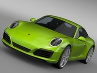 Porsche 911 Carrera S Coupe 991 2016 3D Model