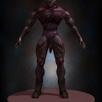 01 final render man monster by yacine brinis cover