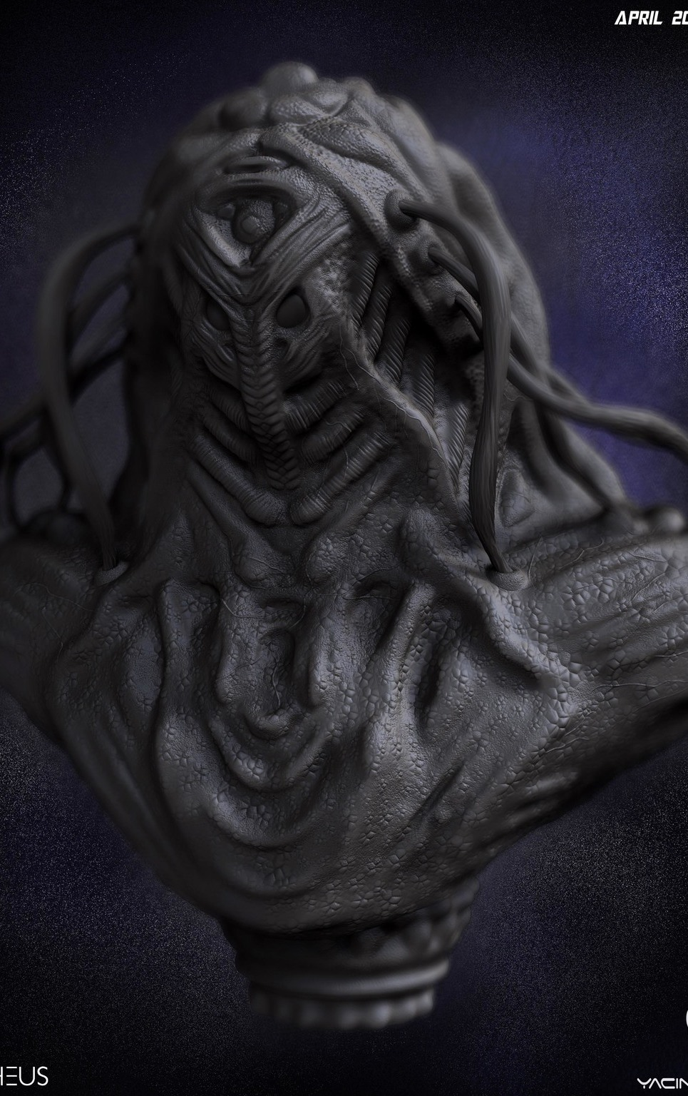 01 render high poly alien prometheus by yacine brinis show