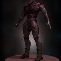 02 final render man monster by yacine brinis cover