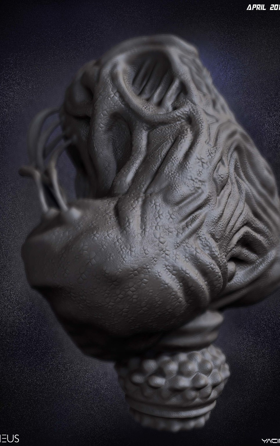 02 render high poly alien prometheus by yacine brinis show