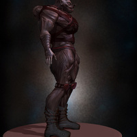 05 final render man monster by yacine brinis cover